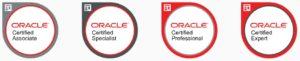 Niveles de Certificación Oracle: Asociado, Profesional, Experto y Especialista